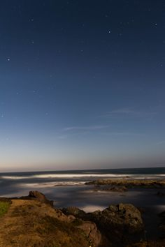 Fort Bragg full moon long exposure