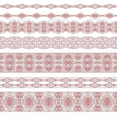 Ornamental Seamless Pattern #GraphicRiver Set of Borders with Aztec Ornament.  Armband/anklet ideas.