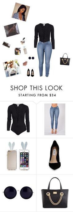 """😒😒crash ---somo"" by trilliestbitch on Polyvore featuring NLY Trend, Steve Madden, Linda Farrow and Kardashian Kollection"