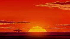 Lion King tattoo- this sunset with the tree and hakuna matata written on top.