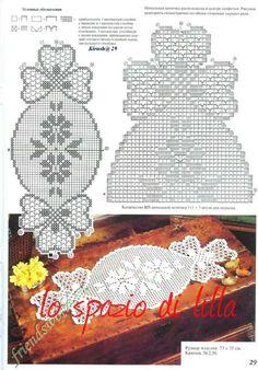 lo spazio di lilla: A gentile richiesta...lo schema per un centrino a filet a forma di caramella