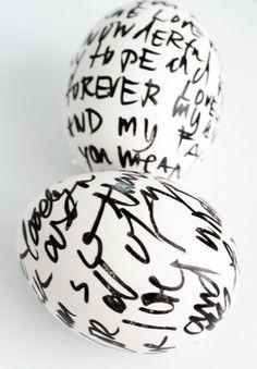 { #DIY } 30 idées créatives pour sa déco de pâques - suite | www.decocrush.fr #easter #egg #black #handwriting