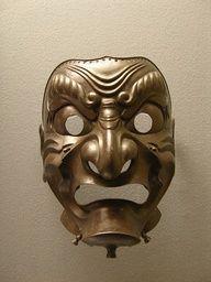 Japanese Samurai Helmet Mask, these are so awesome. Samurai Helmet, Samurai Armor, Japanese Mask, Japanese Warrior, Samourai Tattoo, Vintage Helmet, Viking Warrior, Carving Designs, Japanese Culture