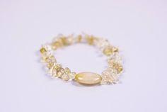 GENUINE CITRINE CHIP Bracelet  #Bracelets See more! https://lalamotifs.com/product/genuine-citrine-chip-bracelet/