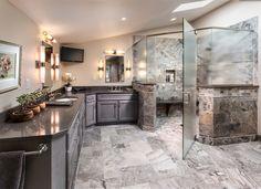 Frameless Glass Shower Doors Bathroom Contemporary with Corner Shower Corner Vanity