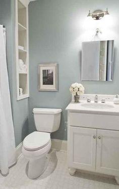 basement bathroom ideas with blue desain and ornament tags: basement bathroom ideas, basement bathroom floor plan ideas, basement bathroom tile Bathroom Grey, Duck Egg Blue Bathroom, Small Basement Bathroom, Bathroom Floor Plans, Downstairs Toilet, Bathroom Layout, Bathroom Colors, Bathroom Flooring, Bathroom Storage