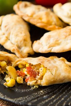 This recipe is by David Tanis and takes 1 hours. Tell us what you think of it at The New York Times - Dining - Food. Beef Empanadas, Empanadas Recipe, Tapas, Butter Potatoes, Corn Recipes, Cooking Recipes, Cooking Corn, Sweet Corn, Gastronomia