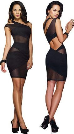 Sexy #Black #Dresses For Christmas Eve Party