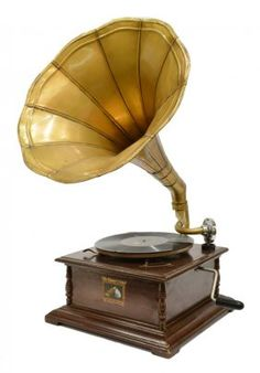 'HIS MASTERS VOICE' GRAMOPHONE, MORNING GLORY HORN