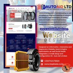 Designed an Interactive a Websitefor Auto Aid Limited. Professional dealers in Tyre Retreading as well as selling, servicing and repairing of radiators, air chargers, heat exchangers, oil coolers, industrial boilers, thermic fluid heaters, incinerators, exhaust pollution control equipment and water treatment plants. View our growing portfolio at www.inspimate.co.ke. #webdesign #socialmedia #portfolio #radiators #tyre #retreading #searchengineoptimization #business #online #seo
