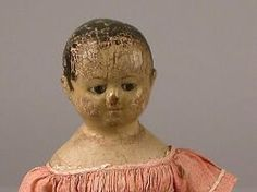 THE MAURINE POPP COLLECTION OF DOLLS - SALE 2196 - LOT 118 - IZANNAH WALKER OIL PAINTED CLOTH DOLL, CENTRAL FALLS, RHODE ISLAND, C. 1860S, - Skinner Inc