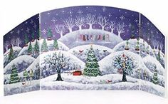 North Pole Backdrop Christmas Village Accessory by Department 56