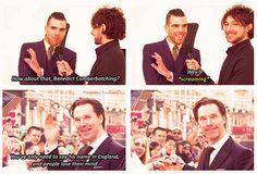 Benedict Cumberbatch - Star Trek Into Darkness. That face is priceless.