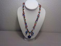 Healing Stone Lapis Lazuli Pendant with Beads necklace