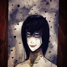 One sketch a day #sketch #moleskine #paper #love #draw #drawing #dark #ink #watercolor #illustration #onesketchaday