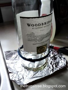 Cutting glass bottles. Best step by step with clear instructions I've found.