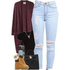 Core spirit, michael michael kors, timberland and asos outfit одежда, гарде Timbs Outfits, Cute Swag Outfits, Dope Outfits, Timberlands, Teenage Outfits, Teen Fashion Outfits, Outfits For Teens, Fall Outfits, Timberland Stiefel Outfit