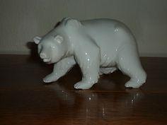 Beautiful Large Blanc de Chine Berlin Porcelain Polar Bear