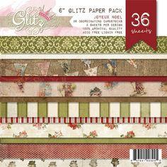 "Joyeux Noel 6x6 Paper Pad; Glitz Designs ""Joyeux Noel"" Patterned Paper; Glitz products in general; lovely products"