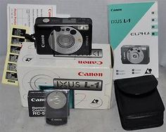 Canon IXUS L-1 Point & Shoot Compact Camera with Remote & Case, Boxed, Working