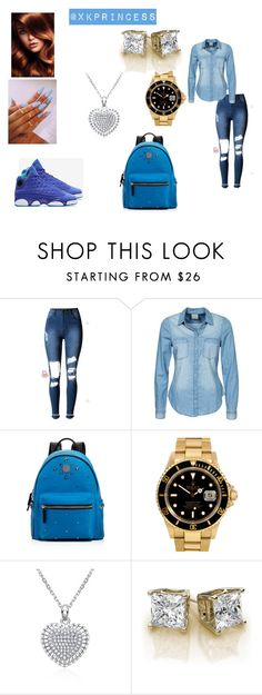 """Untitled #369"" by xkprincess on Polyvore featuring Vero Moda, MCM and Rolex"