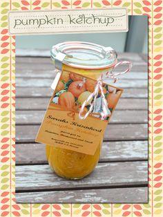 Pumpkin Ketchup http://sarahskrisenherd.blogspot.de/2012/10/pumpkin-ketchup-plus-freebie.html