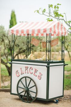Vintage ice cream cart: http://www.stylemepretty.com/2014/11/14/summer-chateau-south-of-france-wedding/ | Photography: Marianne Taylor Photography - http://mariannetaylorphotography.co.uk/