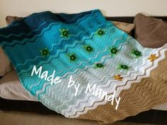 This blanket is absolutely fun to make. Changing the Baby Sea Turtle Baby Blanket to a larger size was pretty easy. I make these to sell in my Etsy shop, but I can't keep up with the orders…