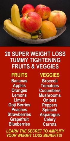 20 Super Weight Loss Tummy Tightening Fruits & Veggies. Amplify the effects dramatically by infusing the fruit with alkaline rich Kangen Water; the hydrogen rich, antioxidant loaded, ionized water that neutralizes free radicals that cause oxidative stress
