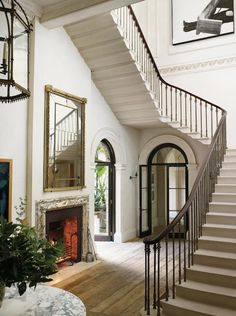 Guehne-Made - Kansas City | Home Remodeling | Home Styling | Custom Woodworks | Custom Furniture: Home Tour | Interior Designer Rose Uniacke - gorgeous entry and stairs