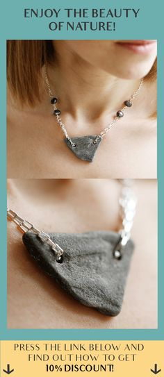Identify with nature! Sterling silver stone necklace!