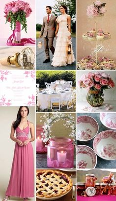 Cherry Blossoms Wedding Theme 2. Love brides maids dress!