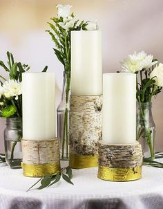 Create this project with Americana Decor® Metallics™ — Make your table shine with this elegant and rustic candle holder set.