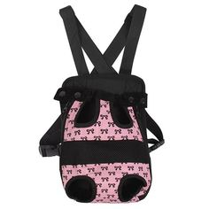 Nylon Small Dog Carrier Backpack Head Out Cat Pet Puppy Travel Bag Tote (S size, Pink ribbon) -- Find out more about the great product at the image link. (This is an affiliate link) #CatCarriersandStrollers