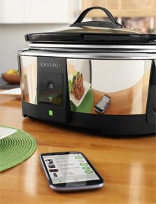 Add flexibility to your dinner schedule with the Crock-Pot® Smart Slow Cooker featuring WeMo®. By downloading the free WeMo App to your smart device and syncing it to the Crock-Pot®, you can enjoy remote access to all your slow cooker's functions, no matter where you are.