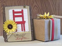 """Some projects made with September's Studio AE stamp set, """"Family Is by Ali Edwards""""."""