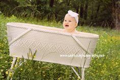 Cuteness in a 60 yr.old bassinett :)