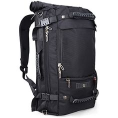 Witzman Unisex Casual Nylon Backpack Travel Bag Hiking Bag Camping Rucksack 20206 Black 19 INCH Black Nylon *** Check this awesome product by going to the link at the image.