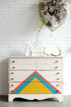 Or Triangles | 99 Clever Ways To Transform A Boring Dresser
