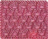 Diamond Knitting Pattern  really like this but need someone to show me that know stitch