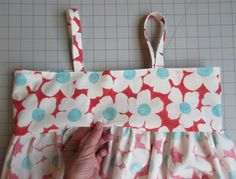 tutorial on how to enclose bodice lining inside of the skirt lining.