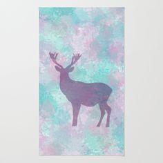 #home #rug #deer #pastel