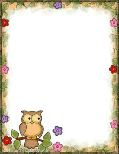 Made by Sophia Delve Design Boarder Designs, Page Borders Design, Free Printable Stationery, Printable Paper, Owl Crafts, Paper Crafts, Boarders And Frames, Owl Classroom, Borders For Paper