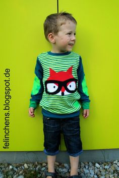 Cool sewing project for boy with fox or dragon -Tomboy Schnittmuster nähen für Jungs