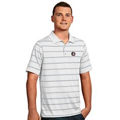 New Orleans Saints Antigua Exceed Desert Dry Men's Polo | Saints ...