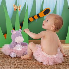 Lady Lulu and Baby's Tutu Plush Plus Bloomer for Baby
