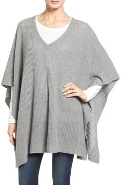 Keeping cozy and cute with this grey ribbed poncho knit from lush 1a68dd1778ecc