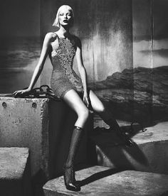 2369cac1a Elza Luijendijk is Gothic Glam for Versaces Fall 2012 Campaign by Mert &  Marcus Monochrome Fashion