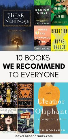 Here are 10 books we recommend to everyone. If you're in the market for a new read, check out these fantastic books! Books You Should Read, I Love Books, Good Books, Books To Read, My Books, Library Books, Reading Lists, Book Lists, Classic Books