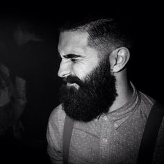 it's so black ! huge bushy thick black beard handsome beards bearded man men #beardsforever